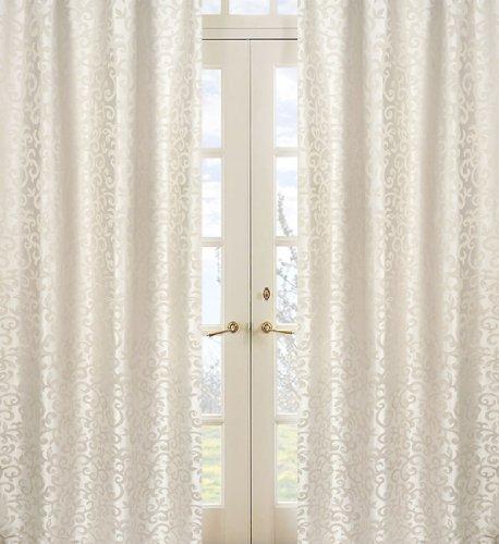 Sweet Jojo Designs 2-Piece Victoria Jacquard Window Treatment Panels - Jacquard Window Treatments