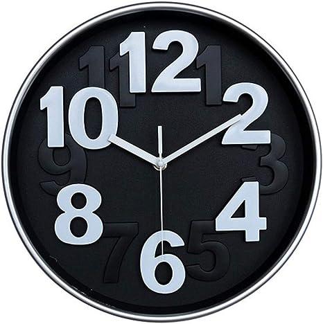 Amazon Com Zjx Creative Fashion Clock European Modern Large Arabic Numeral Clock Face Design Easy To Read Children S Cartoon Bedroom Wall Clock Modern Minimalist Quartz Clock Color Black Size 30x30cm Home