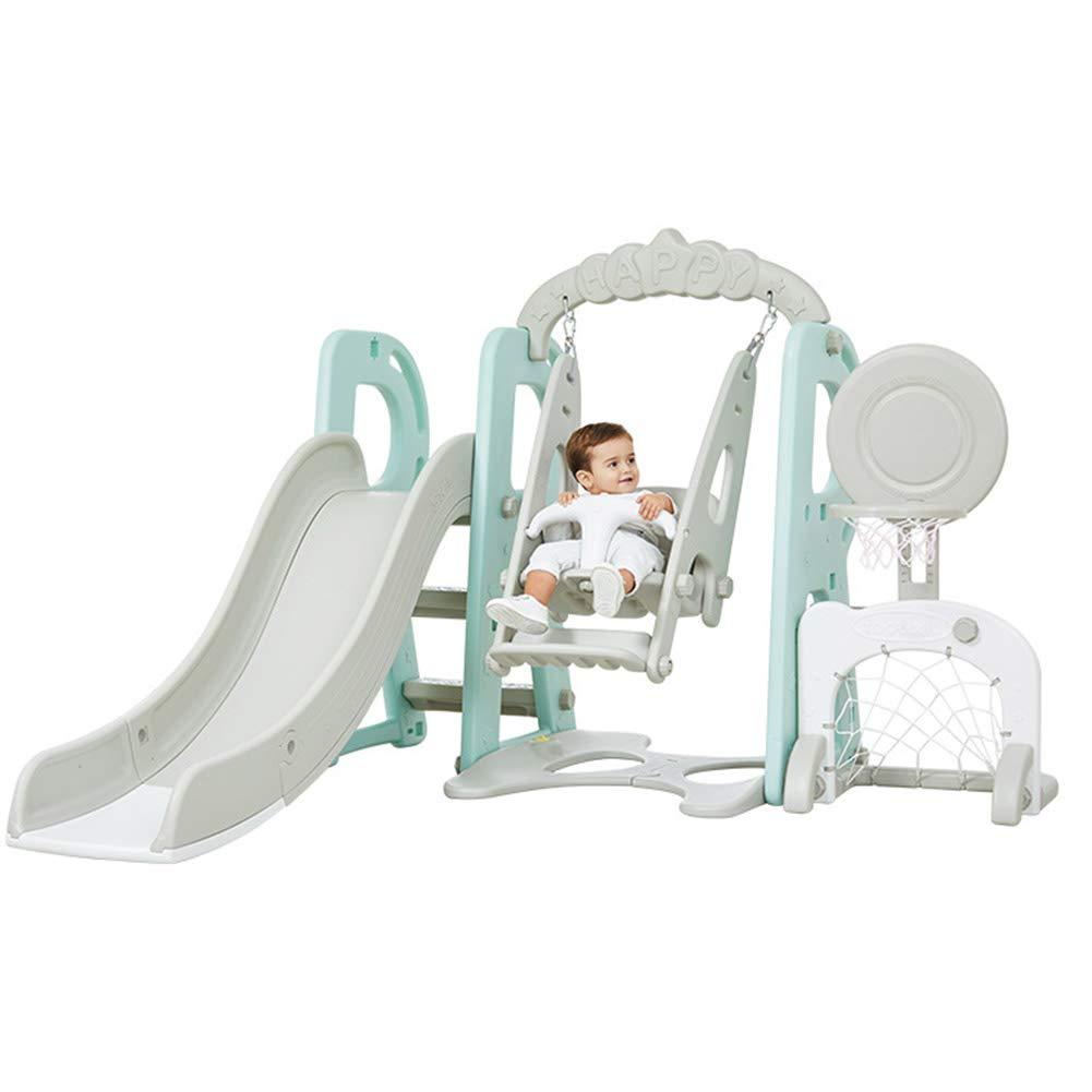 子供のおもちゃ 多機能スライド 屋内遊園地 スイングスライドの組み合わせ 長さ180 Cmのスライド 安全バッファー 調整可能 B07SLPGY8P