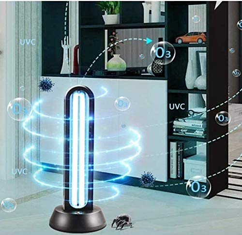Quartz UV germicidal lamp Ultraviolet Light with Ozone to Kill Bacteria Fungi viruses 99.9 Remote Control Residential Area 65W,65W