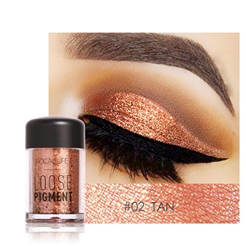 Misaky12 Color Misaky Classy Intensity Single Baked Shimmer Pearl Metallic Pigmented Eyeshadow Highlighter Pigment Palette (#B)