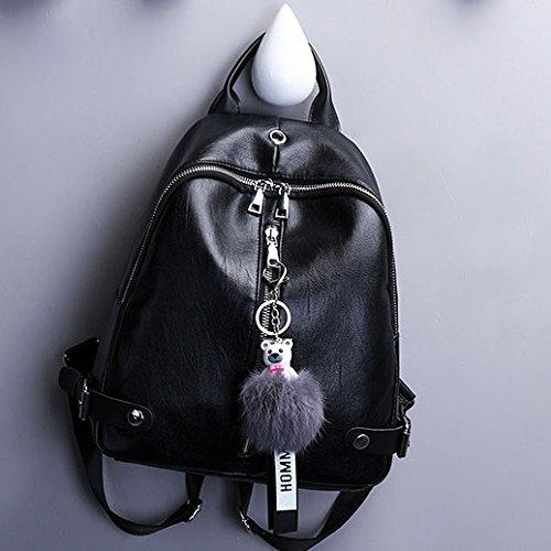 Black Nueva Personalidad Las Manera Ocio ZLL De De Bolso La Del Salvaje Hombro Viaje De Cuero Del De Mujeres La Del Personalidad Women's bag Suave OO7qSp