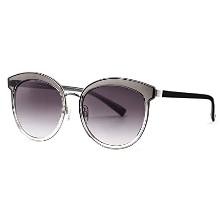 f0f2b7b660fb Avoalre Sunglasses for Womens UV 400 Protection 100% Oversized Eyewear  Round Cat Women Shades Mirrored