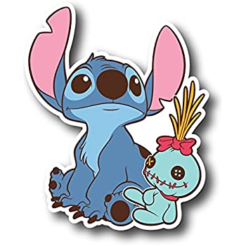 Amazon Com Lilo Amp Stitch Stitch Vynil Car Sticker Decal