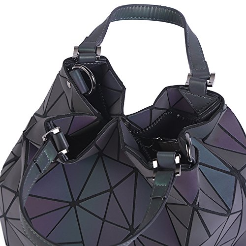 Briefcase Style Shoulder Style Handbags Tote Geometry Bags D a Plain Small Big Laser Quilted Folding 7txqn7TarS