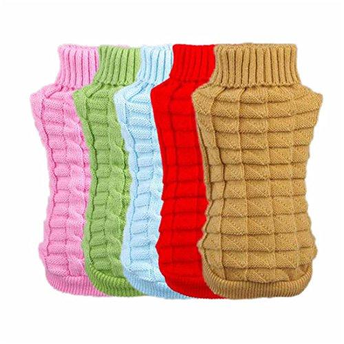 Coper New Cute Puppy Pet Dog Spring Fall Woolen Sweater Knitwear Cloths