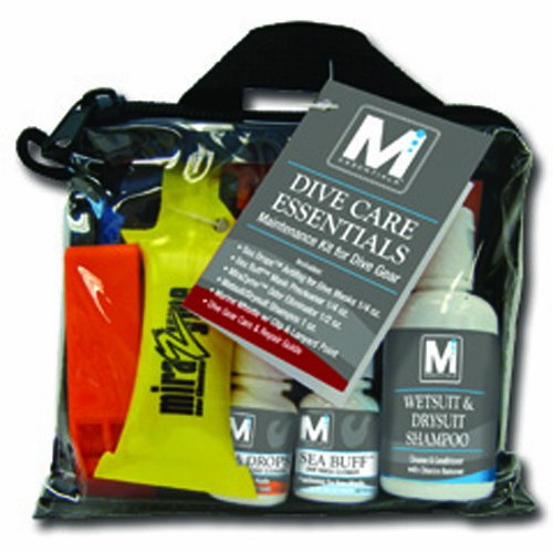 JCS Dive Care Essentials Pack: Includes Sea Drops™, Sea Buff™, MiraZyme™, Wetsuit Shampoo™, Safety Whistle