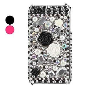 TY- caso floret patrón para iPhone 4 y (varios colores) 4s , Rosa