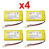 4 Fenzer Rechargeable Cordless Phone Batteries for Vtech BT175242 BT-175242 BT275242 BT-275242 6119 6128 6129 Cordless Telephone Battery Packs