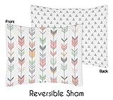 Sweet Jojo Designs Standard Pillow Sham for Grey, Coral and Mint Woodland Arrow Girls Bedding Sets