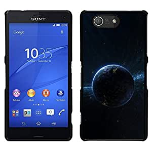 // PHONE CASE GIFT // Duro Estuche protector PC Cáscara Plástico Carcasa Funda Hard Protective Case for Sony Xperia Z3 Compact / Dark Planet Space /