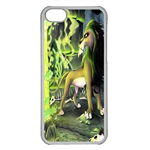 iPhone 5C case ,fashion durable Transparent side design phone case, pc material phone cover ,Designed Specially Compatible with the lion king scar.