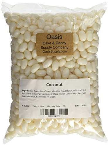 Jelly Belly Jelly Beans, Coconut, 2 Pound