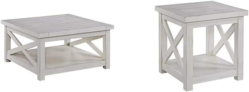 Seaside Lodge White Coffee Table by Home Styles & Seaside Lodge White End Table