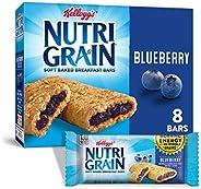 Kellogg's Nutri-Grain, Soft Baked Breakfast Bars, Blueberry, Made with Whole Grain, 10.4oz Box (8 Co