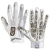 Grip Boost Stealth Football Gloves Pro Elite (White, Large)