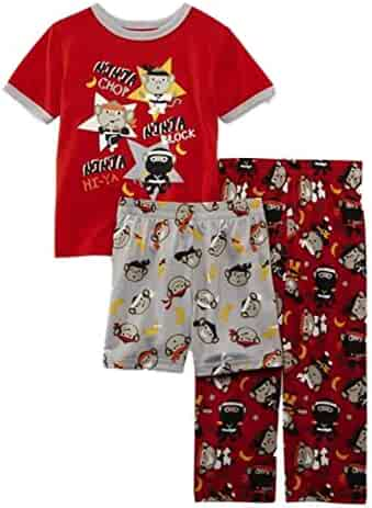 Joe Boxer Infant   Toddler Boys 3 Piece Ninja Monkey Pajama Sleepwear Set 1c8d09256