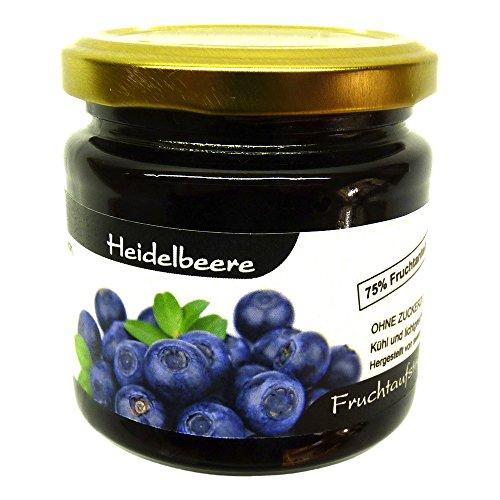 """Xylit Fruchtaufstrich""""Heidelbeere"""" ohne Zuckerzusatz, nur mit Xylit gesüßt, 75% Fruchtanteil (mehr als Marmeladen), Low Carb, 200 g"""