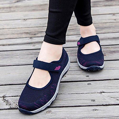 Ladies Flat C Comfort Knit Scarpe Scarpe 2018 Fall Donna Casual 39 Travel Spring Dimensione Loafers Traspiranti Casual New Corsa Colore HUAN da da zOWqT6RR