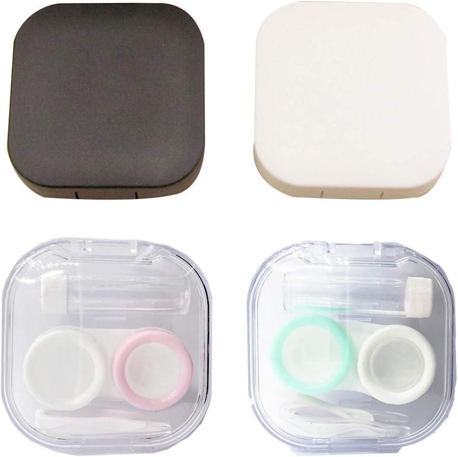 4Kit - Estuche para lentes de contacto (tamaño pequeño): Amazon.es: Salud y cuidado personal