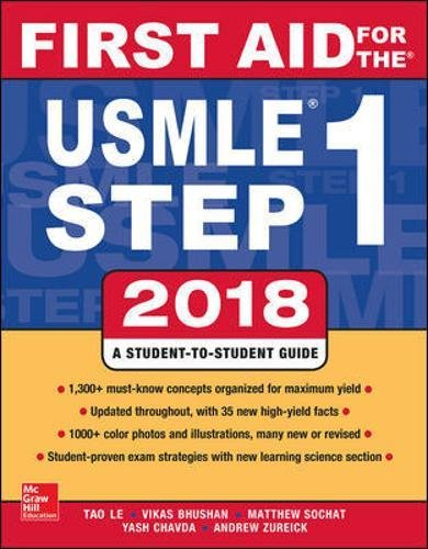 First Aid for the USMLE Step 1 2018, 28th Edition cover