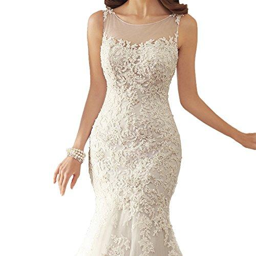 Abaowedding Mujer Blanco Abaowedding Abaowedding Vestido Vestido Mujer Mujer Blanco Abaowedding Vestido Blanco Vestido dxUadw