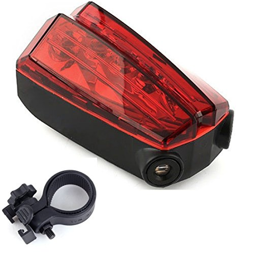 Imperial 5 LED and 2 Lighter Popular Bike Red Light Safety Lamp Rear Lighting Warning Cycling with Mount Clip