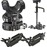 Came-TV 5.5-33lbs Pro Camera Steadicam Video Carbon Stabilizer with Aluminum Case