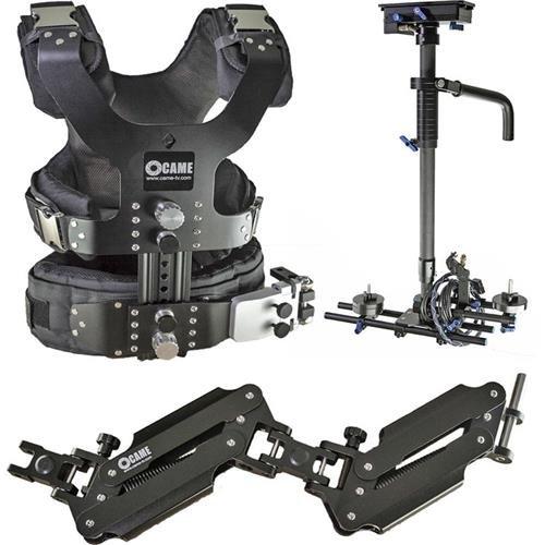 came-tv 5.5 – 33lbs Proカメラビデオカーボンステディカムスタビライザーアルミケース付き   B01E88I808