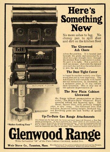 1911 Ad Glenwood Ash Chute Range Weir Stove Company - Original Print Ad - Glenwood Range