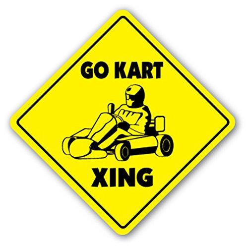 (GO KART CROSSING Sign Decal Sticker racing racer karts parts helmet karting cart carts sport)