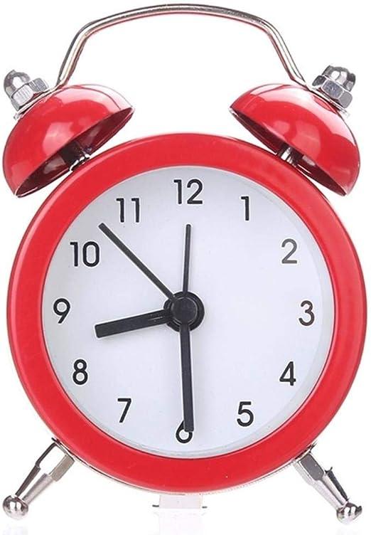 HENGCHENG Relojes Escritorio Mini Reloj De Alarma De Batería ...