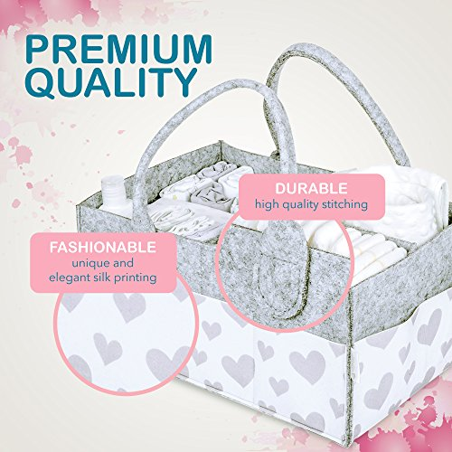 Baby Diaper Caddy and Toy Storage Basket   Portable Diaper Bag for Infants, Boys and Girls   Extra Sturdy & Large Nursery Organizer   Perfect Baby Shower Gift   Baby Registry Must Haves by Littlegem4U (Image #3)