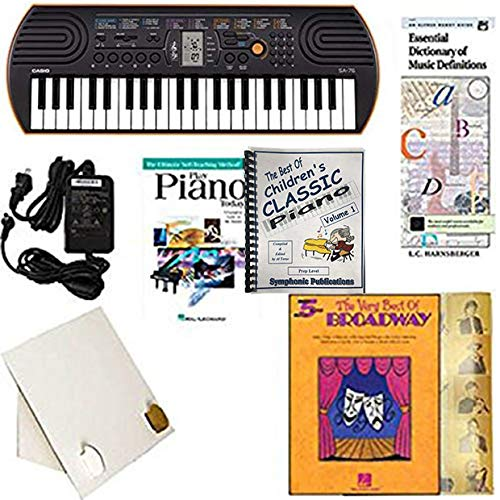 Homeschool Music - Piano Pack (Best of Broadway) - W/Casio SA76 Keyboard, Adapter, learn 2 Play DVD/Book, The Best of Children's Classic Piano Vol. 1 & All Learning Essentials ()