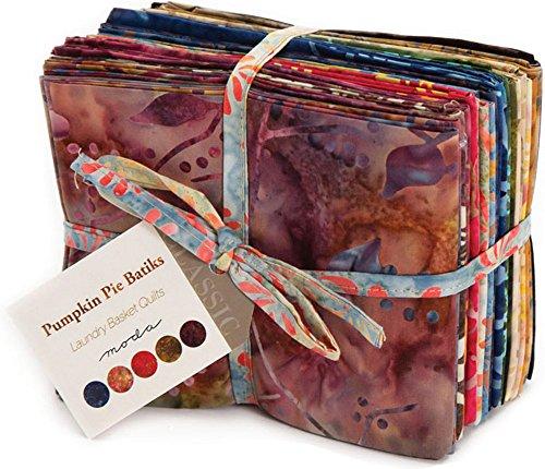 Laundry Basket Quilts Pumpkin Pie Batiks 20 Fat Quarter Bundle Moda Fabrics 42289AB by Moda Fabrics