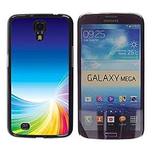 Be Good Phone Accessory // Dura Cáscara cubierta Protectora Caso Carcasa Funda de Protección para Samsung Galaxy Mega 6.3 I9200 SGH-i527 // Colorful Tornado