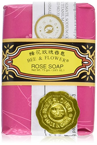 (Bee & Flower Rose Soap 12 Bars )
