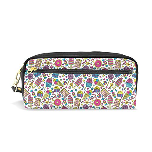 (Candies Ice Cream In Doodle StyleConvenient small cosmetic bag, stylish casual style, suitable for all occasions, travel essentials.)