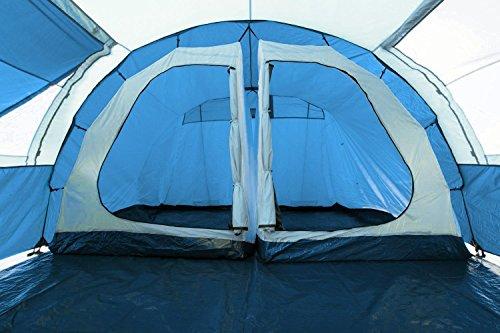 51HMtGjwwVL CampFeuer Tunnelzelt Multi Zelt für 4 Personen | riesiger Vorraum, 5000 mm Wassersäule | mit Bodenplane und versetzbarer…