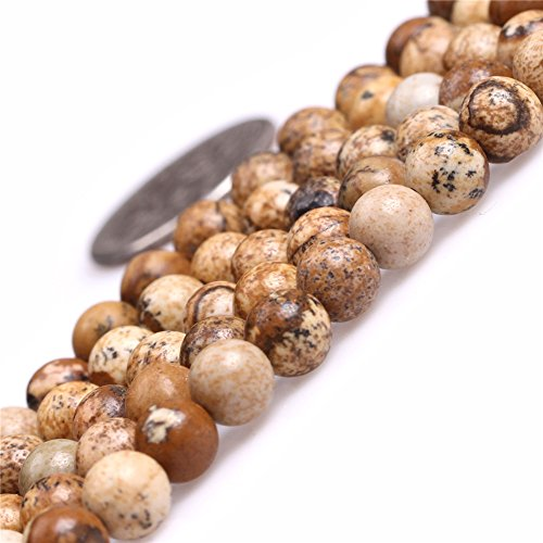 Jasper 6 Mm Gemstone - Joe Foreman Picture Jasper Beads for Jewelry Making Natural Gemstone Semi Precious 6mm Round 15