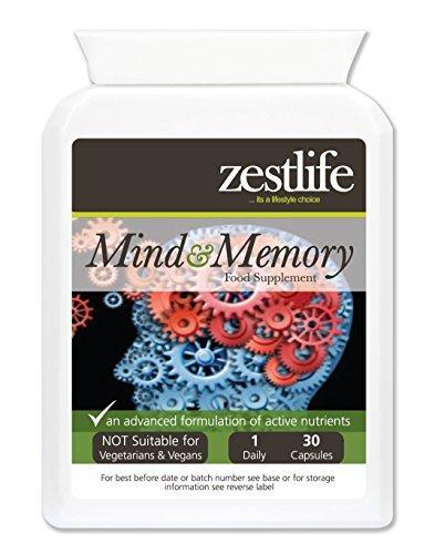 Zestlife mente y memoria de la ayuda 30 Caps - Ayuda a mejorar el rendimiento del
