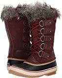 SOREL Women's Joan Of Arctic Redwood/Red Element Mid-Calf Leather Snow Boot - 8M