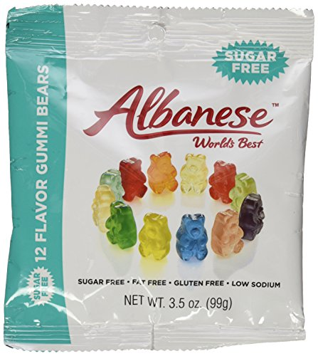 Albanese Sugar Free 12 Flavor Gummi Bears 3.5 Ounce Pack of 6