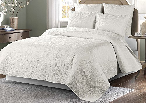 Best Price! Elise & James Home Venice Quilt Full/Queen White