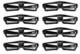 Goswot 144Hz Rechargeable Active Shutter Eyewear for All DLP-Link 3D Projectors( Pack of 8)