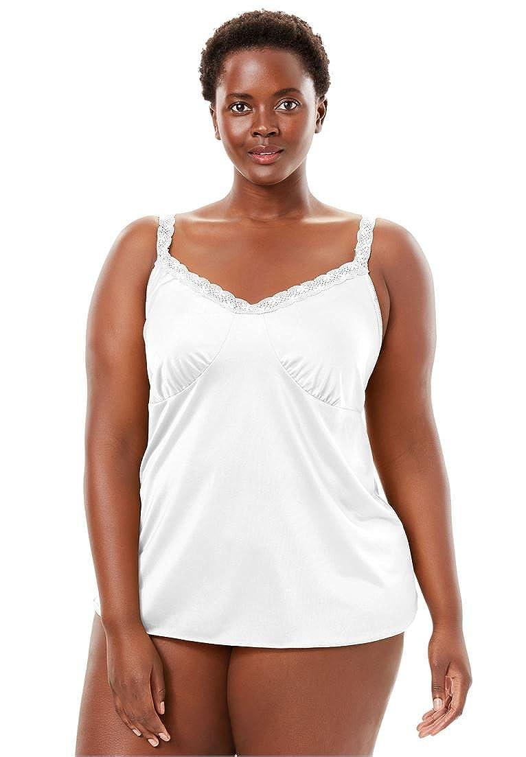 Comfort Choice Women's Plus Size Lace Trim Camisole