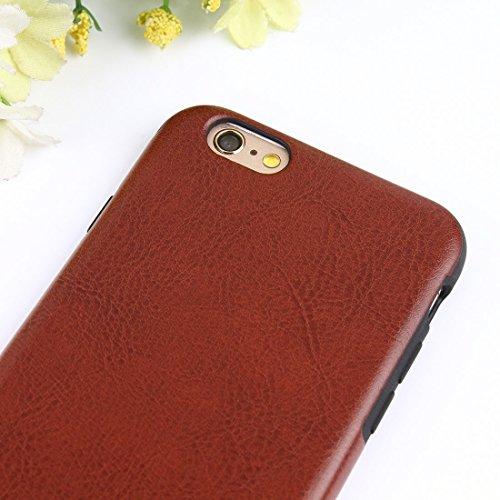 Protege tu iPhone, Para el iPhone 6 y 6s textura loca del caballo TPU + caja protectora de la PU Para el teléfono celular de Iphone. ( Talla : Ip6g7901z )