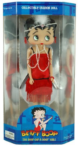 12 Flapper Betty Boop Fashion Doll w/ Doll Stand by Betty Boop