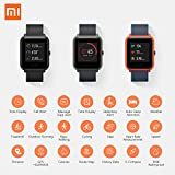 Amazfit Bip Smart Watch Heart Rate Monitor Fitness Tracker with GPS for Sports Activity Router IP68 Water Resistant Bluetooth Smart Wrist Support iOS Android for Kids Men Women /Onyx Black US Version