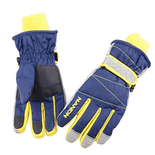 Azarxis Winter Ski Gloves Snow for Women Men Windproof Waterproof Thermal Warm Snowboarding Sledding Cycling Skiing Riding Skating Biking (Blue, XL)